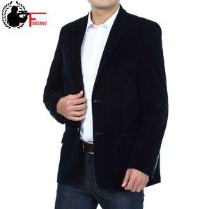 Mens Corduroy Blazers Spring Men Blazer Smart Casual Jacket Solid Camel Black Cotton Business Suit Jackets Male Officer 4XL 201026