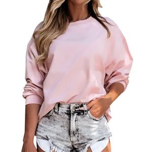 Spring Leisure Herbst neuen Rundhals Rundhals einfach Ampere in oberen halahuk Kleidung Frauen Kleidung lange Hülse T-Shirts