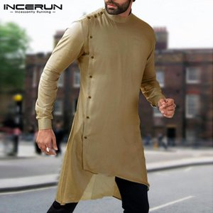 Мужские повседневные рубашки Мусульманская исламская одежда мужские топы Саудовская арабская платье длинная рубашка костюм KAFTAN HOMBRE ROBE CAMISA1