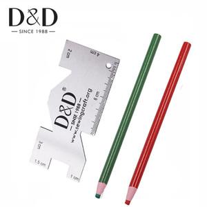 Coupe sans couture Tissu Chalk Marker Chalk Couture Mesure de mesure Règle de Rulers Métal Calibre Tissu de bricolage sur mesure Accessoires