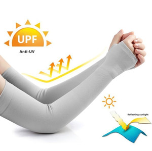 2020 New Arm Sleeve Sun Uv Protection Cycling Sports Gaming Arm Sleeve Bick cuff Armstukken Cycling Ice Fabric Mounwen