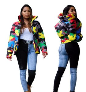 2020 new Christmas design short men's cotton padded jacket popular style, men and women can wear color camouflage printing and dyeing bread