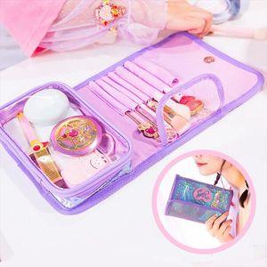 Milkjoy Korea Girls Cosmetics Bag Fashion PVC Make up Brush Case Travel Wash Toiletry Cases Storage Bag Bentoy Laser Women Pouch