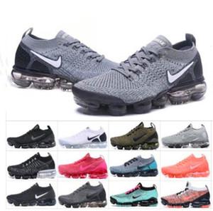 2020 nuevos zapatos corrientes de aire de los hombres Vapourmax Fly 2.0 3.0 Knit max Deportes Triple BlackVaporLas mujeres voltios Orca Formadores Cojín zapatilla de deporte