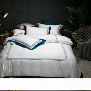 5-star Hotel White Luxury 100% Egyptian Cotton Bedding Sets Full Queen King Size Duvet Cover Bed Flat Sheet Fitted Sheet Set