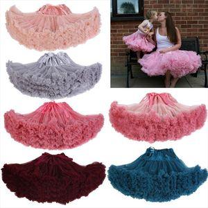 Femmes Court Vintage Petticoat Jupe Ballet Birthday Party Pettiskirt Bubble Tutu Tulle Layered Costumes Tutu Jupe