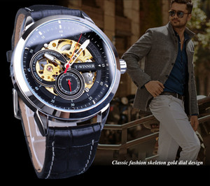 2020 Top Luxury European and American Men's Fashion Watch Leisure Hollow Waterproof Automatic Mechanical Watch With Box Fast Shipping