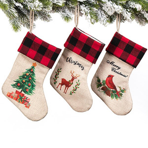 3pcs Christmas Tree Hanging Party Tree Xmas Decor Santa Stocking Sock Gift Candy Bags Christmas Stocking Xmas Stockings sqcFhA sports2010