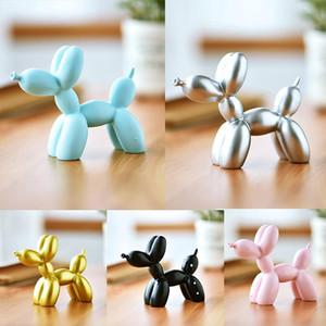 Resin Crafts Sculpture Gift Cute Balloon Dog Cake Decoration Tool Desktop Decoration Party Dessert Accessories