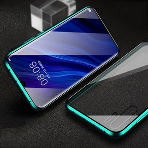 Luxury Magnetic Absorption Metal Cases For Huawei Nova 4 Nova4 Front Back Double Sided Glass Phone Cover Huaweinova4 Bumper H sqcEmB