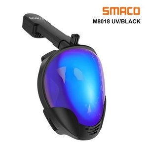 SMACO M8018 Full Face Snorkeling Mask with UV Protection Anti-Fog Detachable Camera Mount 180 degrees Panoramic View1