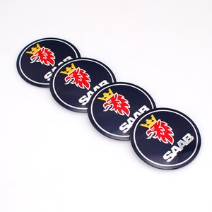 4pcs set 56mm Car Auto Tyre Wheel Center Cover Stickers HubCap Stickers Emblems Badge Decal Fit SAAB