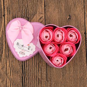 Sevgililer Günü Lover Gül Çiçekler Gül Buketi Teddy Bear Doğum Günü Hediyesi ile Metal Paketi Uçucu Yağ Sabunu Çiçek HHE4188