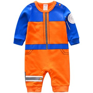 YiErYing Brand New Baby Rompers 100% Cotton Long Sleeve Baby Jumpsuits Cartoon Naruto Style Baby Boy Girl Clothes 201028