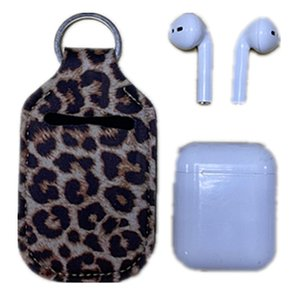 Neoprene Hand Sanitizer Airpod Case Holder Keychain For Apple Airpods  Earbuds Protection Neoprene Holders with Detachable Clips AC1143