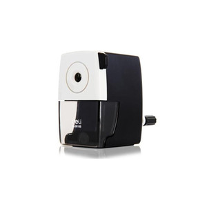 Wholesale-1 Pc Metal Pencil Sharpeners Basic Type For Office Hand Crank Pencil Cutting Machine 2 Colors White And jllWNb sport777