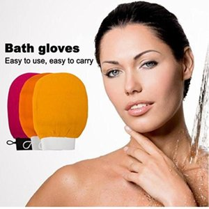 Scrubbing Exfoliating Gloves morocco bath hammam scrub mitt magic peeling glove exfoliating tan removal mitt(normal coarse feeling) WY1183