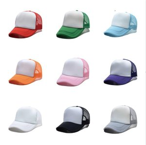 Sublimation Blank Ball Hat Caps Capuchon Machin Publicité Cap Captume Personnalisé Logo Diy Thermal Thercle Thercle Capuchon Capuche Visière Colorée Sunhat G10607