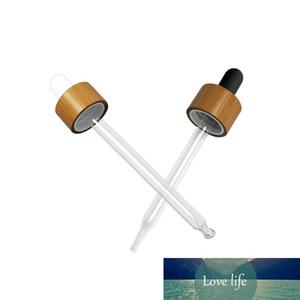 500 * 18MM 18/410 alumínio Screw Bulb Cap Branco Preto Vidro Pipeta Dropper Acessórios para garrafas de 5ml-5ml Bamboo Dropper Tampas