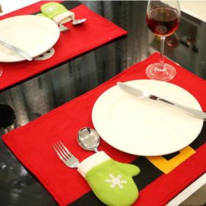 Natale Table Mats sacchetto regola posate Capodanno Santa Claus calze dono Xmas Dinner Table Decor Decorazione natalizia YHM57-1