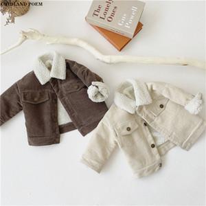 Kinderjacke für Junge Winter Lammwolle Jungenjacke und Mantel Kinder Oberbekleidung Junge Baby Mädchenjacke Mantel Kleinkind Jungen Oberbekleidung 1-4Y 201030