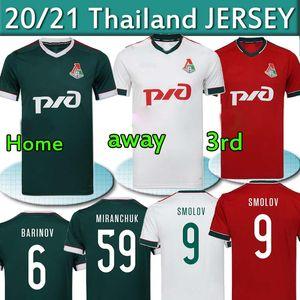 2020 2021 LOKOMOTIV Moscou Jersey Football Home Troisième Rouge 20 21 Miranchuk Zhemaletdinov Smolov Krychowiak Barinov Chemises de football Top Thaïlande