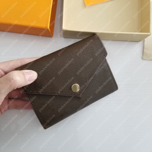 Männer Geldbörsen Frauen Karteninhaber Luxurys Designer Brieftasche Geldbörse Münze Kreditkarteninhaber Portafoglio Portefeuille Victorine Brieftasche 210106L