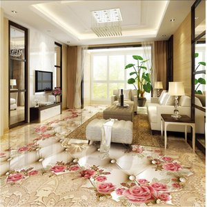 3d flower floor wallpaper for walls 3 d for living room pvc self-adhesive wallpaper pink rose floors