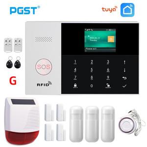 Система сигнализации PGST PG105 Туя безопасности с сигнализации Solar Wireless Siren RFID Главная Охранной Security Home Kit Смарт Life APP Control