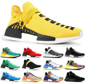 Vente de race humaine NMDS Pharrell Williams Hommes Femmes Sports Designer Chaussures OFF Noir Blanc Blanc Gris Primeknit Pk Runner XR1 R1 R2 Sneaker Shoes