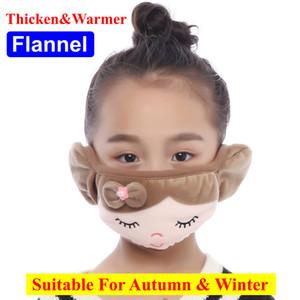 2020 New Designer quentes Kid Crianças Inverno Face cartoons Ear Máscara Orelha regalos Outdoor Cotton Mouth Ear tampa reutilizável lavável