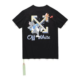 Off fashion ow cartoon cat and mouse loose large men's and women's short sleeve T-shirtZ8C07H99