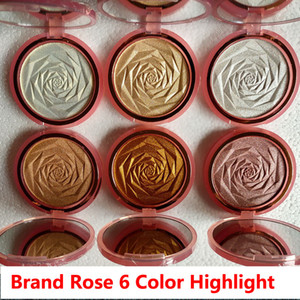 العلامة التجارية Highlighters 6 ألوان مسحوق توهج 6 ألوان الماس البرونزية الجسم تمييز مسحوق الوجه ماكياج إبطال إبراز مسحوق الضغط