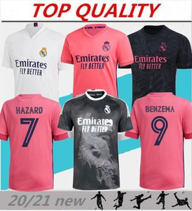 2020 2021 ريال مدريد لكرة القدم جيرسي بنزيما سيرجيو راموس بيت جيرسي 20-21 Camiseta de Futbol Modric Hazard قميص كرة القدم الثالث
