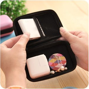 Earphones EVA Headphone Case Storage Container Cable Earbuds Storage Bag Holder Finishing Package Zipper Bag Travel Appliance