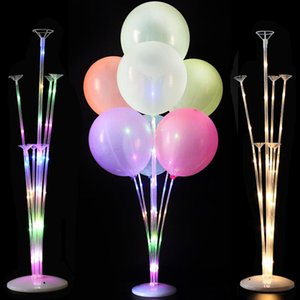 1 2set Led Light Balloon Stand Column Wedding Decor Balloon Birthday Party Decoration Kids Adult Event Party Ballons Accessories