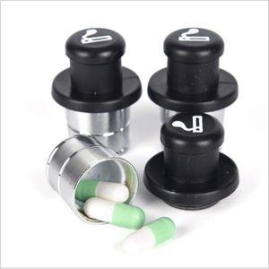Métal secret Stash voiture allume-cigare pilule cachée en forme de boîte conteneur Pill Case Treasure Box Boîte de rangement