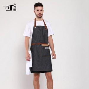 Original KEFEI Amazon Apron Cotton Denim Restaurant Apron with Belt Work Butchers Waiter Aprons for Woman