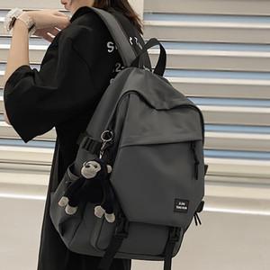 Dcimor grande capacidade impermeável Oxford pano mulheres mochila múltipla bolso unisex curso saco de escola saco para estudantes sênior C0121