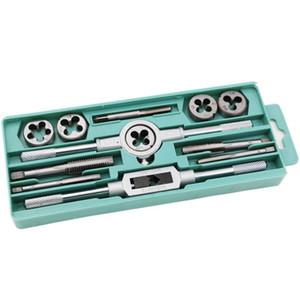 Litake Tap Die Set Screw Thread Plug Hand Tools Metric Hand Taps Die Set Screw Wrench Repair Recovery M3