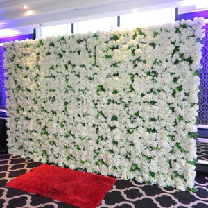 TONGFENG Artificial silk rose peony hydrangea 3D flower wall wedding backdrop decoration flower runner wedding wall stand