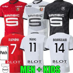 Stade Rennais Camavinga Terrier Mailoots de Foot 2020 21 Rennes Men Kids Set Футбол Джерси Буригауд Niang Hunou Guirassy Футбольная рубашка