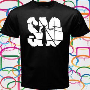 sport Sword Art Online (Sao) Anime Gamers Men'S Black T-Shirt 2019 Brand New Men Clothing Fashion Men'S T Shirts Design Shirt