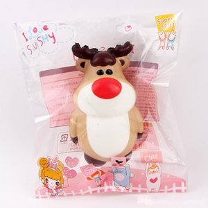 Christmas Squishy Toy Snowman Elk Santa Claus Deer Squeeze Slow Rising Stress Reliever Party Supply Kids Gift Xmas Decoration