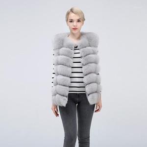 Natural Fur Vest Real Fur Waistcoat, Free Shipping, Women's VestShort sleeveless vest1