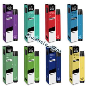 100% Auténtico Aire acondicionado MEGA Desechable E-cigarrillos Dispositivo de vaina 2000Puff 1050mAh 6ml PRESULTADOS PORTALES PORTÁTIL VAPE STICH PENS E-CIGATE BAR XXL PLUS 12 COLORES