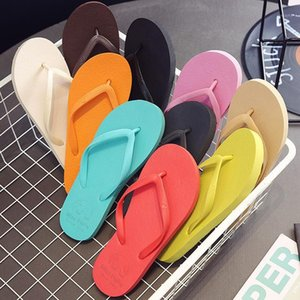 Fashionable Women's Sandals and Slippers Summer Fashion Flip Flops Flat Bottom Beach Sandals Comfortably Non-slip Sole Dropship1