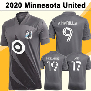 20 21 Minnesota United Mens FC Soccer Jerseys Nova OPara Gregus Aminilla Away Camisa de Futebol Chacon Metanire Alonso Manga Curta Manga Uniformes