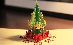 صديقة للبيئة عيد الميلاد بطاقات المعايدة 3D اليدوية يطفو على السطح بطاقات معايدة بطاقة هدية عيد الميلاد هدية هدية ورقة حزب بطاقة عطلة دعوة EWF2872