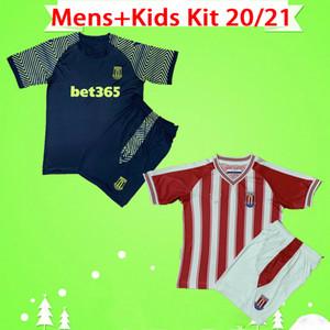16-2XL Mens + Kit enfants 20/21 CITY adultes Maillots STOKE Football McClean Clucas conviennent Maillot de football 2020 2021 Vokes garçons powell ensemble uniforme